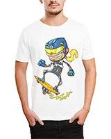 Printed T-Shirt White IB-T-M-C-042 - Ibrand