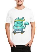 Printed T-Shirt White IB-T-M-C-046 - Ibrand