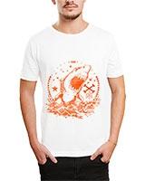 Printed T-Shirt White IB-T-M-C-050 - Ibrand
