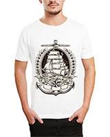 Printed T-Shirt White IB-T-M-C-052 - Ibrand