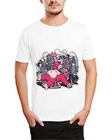 Printed T-Shirt White IB-T-M-C-055 - Ibrand