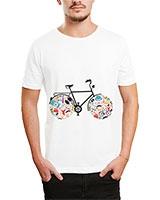 Printed T-Shirt White IB-T-M-C-059 - Ibrand