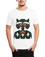 Printed T-Shirt White IB-T-M-C-060 - Ibrand