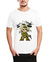 Printed T-Shirt White IB-T-M-C-063 - Ibrand