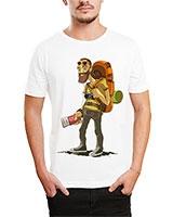 Printed T-Shirt White IB-T-M-C-066 - Ibrand