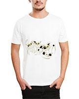 Printed T-Shirt White IB-T-M-C-070 - Ibrand