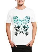 Printed T-Shirt White IB-T-M-C-090 - Ibrand