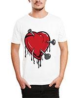 Printed T-Shirt White IB-T-M-C-094 - Ibrand