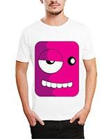 Printed T-Shirt White IB-T-M-C-097 - Ibrand