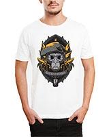Printed T-Shirt White IB-T-M-C-248 - Ibrand