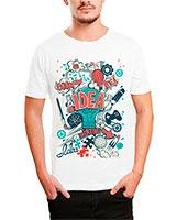 Printed T-Shirt White IB-T-M-D-006 - Ibrand