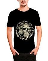Printed T-Shirt Black IB-T-M-D-009 - Ibrand