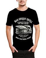 Printed T-Shirt Black IB-T-M-D-018 - Ibrand
