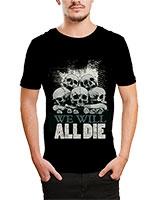 Printed T-Shirt Black IB-T-M-D-021 - Ibrand