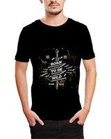 Printed T-Shirt Black IB-T-M-D-036 - Ibrand