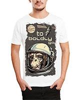 Printed T-Shirt White IB-T-M-D-041 - Ibrand
