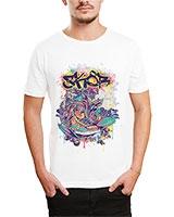 Printed T-Shirt White IB-T-M-D-049 - Ibrand