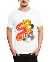 Printed T-Shirt White IB-T-M-D-062 - Ibrand