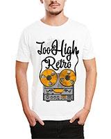 Printed T-Shirt White IB-T-M-D-065 - Ibrand