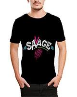Printed T-Shirt Black IB-T-M-D-069 - Ibrand