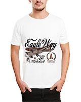 Printed T-Shirt White IB-T-M-D-083 - Ibrand