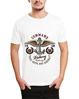 Printed T-Shirt White IB-T-M-D-091 - Ibrand