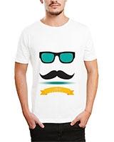 Printed T-Shirt White IB-T-M-D-099 - Ibrand