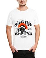 Printed T-Shirt White IB-T-M-D-104 - Ibrand