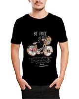Printed T-Shirt Black IB-T-M-D-107 - Ibrand