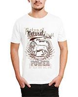 Printed T-Shirt White IB-T-M-D-126 - Ibrand