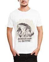 Printed T-Shirt White IB-T-M-D-127 - Ibrand
