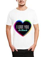 Printed T-Shirt White IB-T-M-D-140 - Ibrand