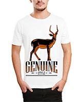 Printed T-Shirt White IB-T-M-D-146 - Ibrand