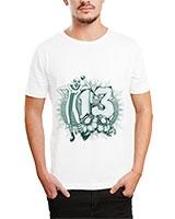 Printed T-Shirt White IB-T-M-D-149 - Ibrand