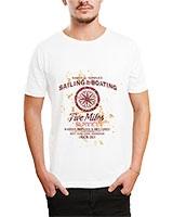 Printed T-Shirt White IB-T-M-D-153 - Ibrand