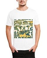 Printed T-Shirt White IB-T-M-D-161 - Ibrand