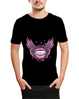 Printed T-Shirt Black IB-T-M-D-163 - Ibrand