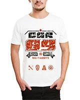 Printed T-Shirt White IB-T-M-D-168 - Ibrand