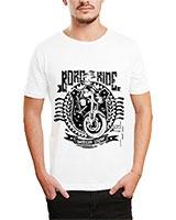 Printed T-Shirt White IB-T-M-D-179 - Ibrand
