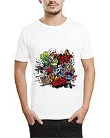 Printed T-Shirt White IB-T-M-G-04 - Ibrand