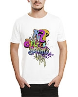 Printed T-Shirt White IB-T-M-G-12 - Ibrand
