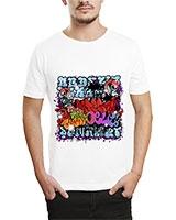 Printed T-Shirt White IB-T-M-G-35 - Ibrand