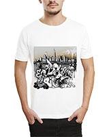 Printed T-Shirt White IB-T-M-G-38 - Ibrand