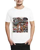 Printed T-Shirt White IB-T-M-G-41 - Ibrand