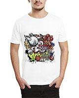 Printed T-Shirt White IB-T-M-G-44 - Ibrand