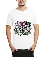 Printed T-Shirt White IB-T-M-G-49 - Ibrand