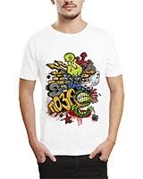 Printed T-Shirt White IB-T-M-G-50 - Ibrand