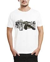 Printed T-Shirt White IB-T-M-G-54 - Ibrand