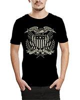 Printed T-Shirt Black IB-T-M-M-17 - Ibrand