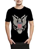 Printed T-Shirt Black IB-T-M-M-18 - Ibrand